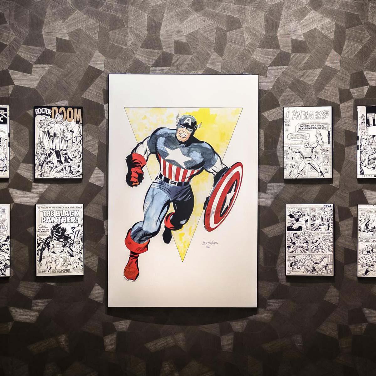 Super hero artwork around every corner