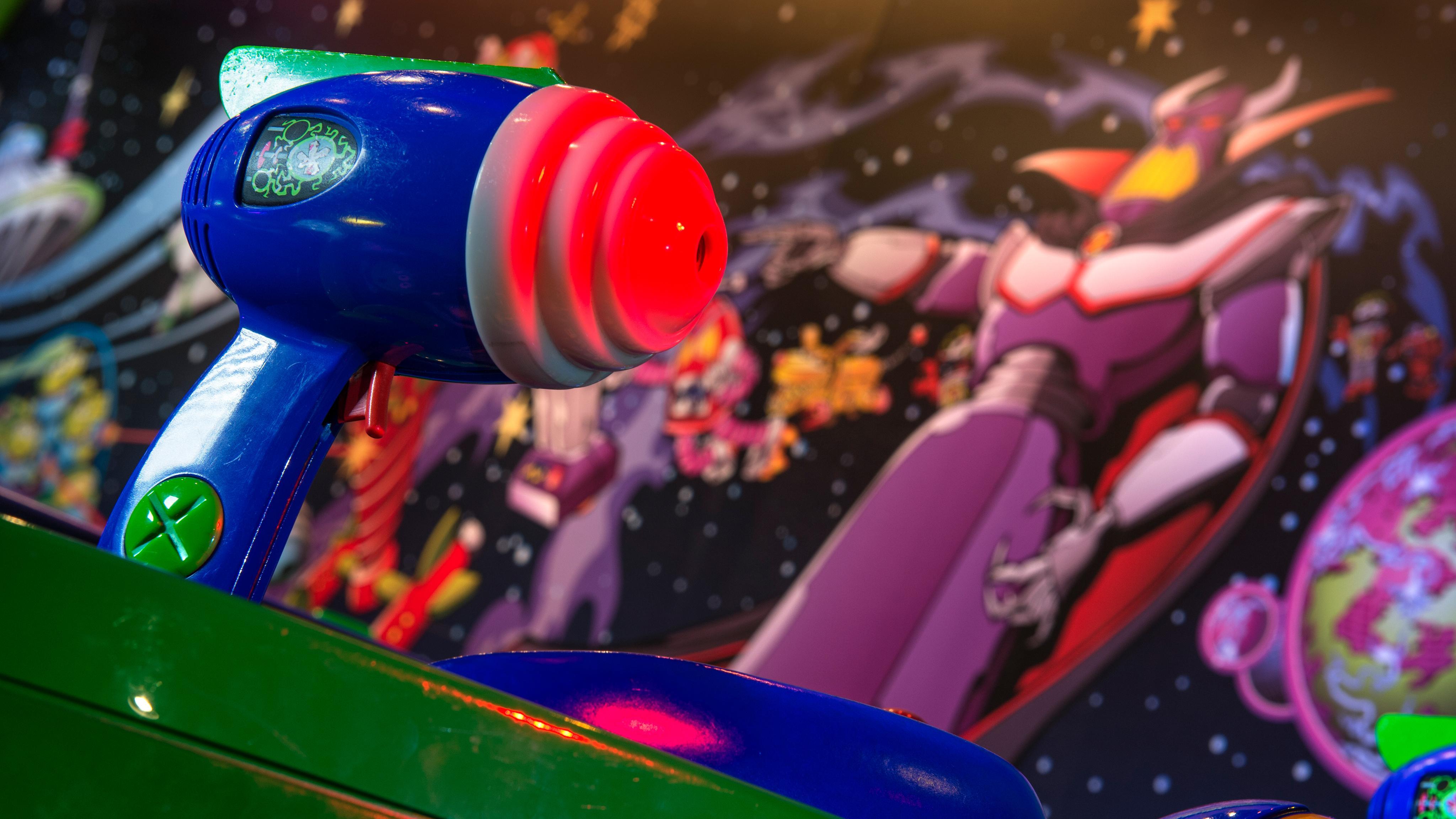 Laser Buzz Et ParcDisneyland Lightyear Attraction Blast Paris WID2EH9Y