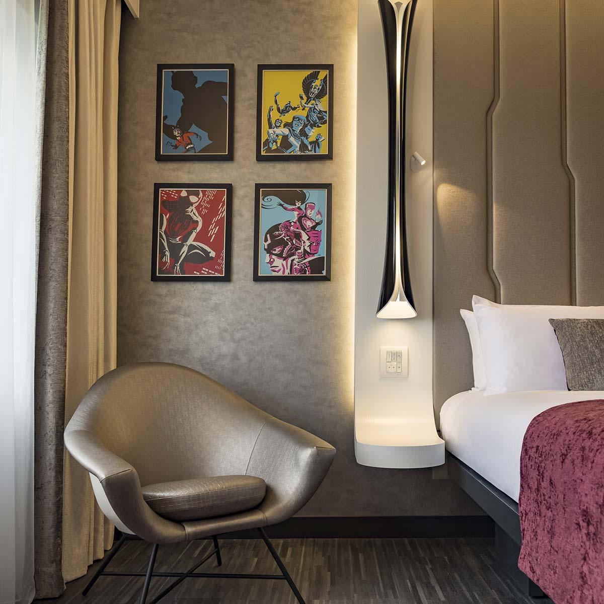 Camere Club, Suite e una club lounge all'altezza di Tony Stark