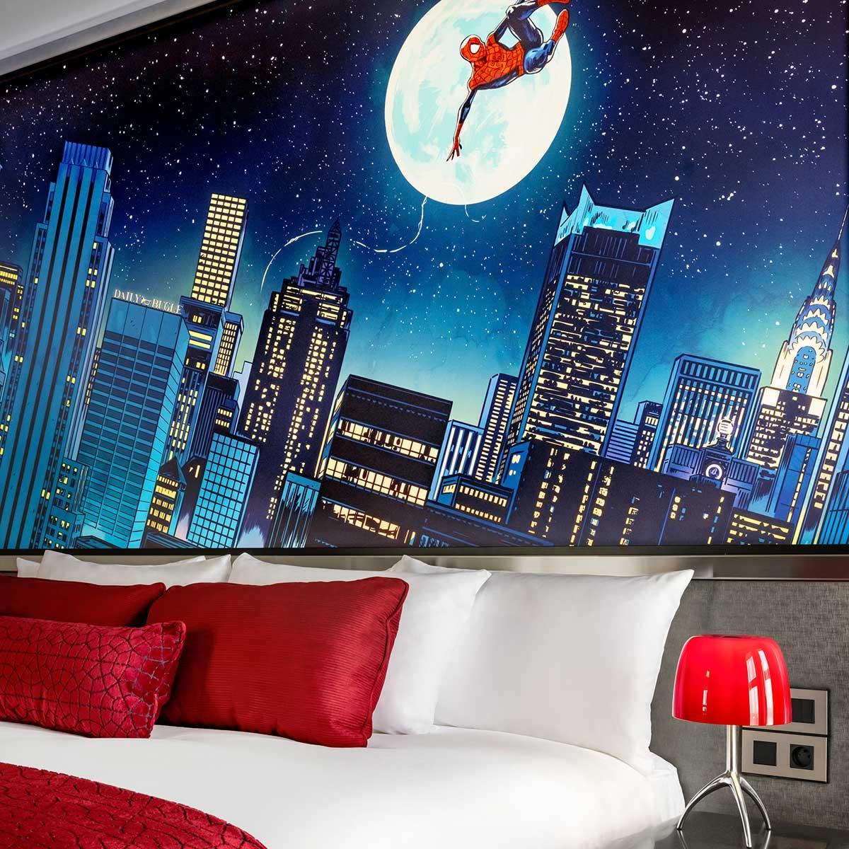 Club kamers en suites en een club lounge in de stijl van Tony Stark